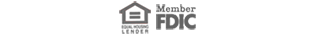 Equal Housing Lender and FDIC logos